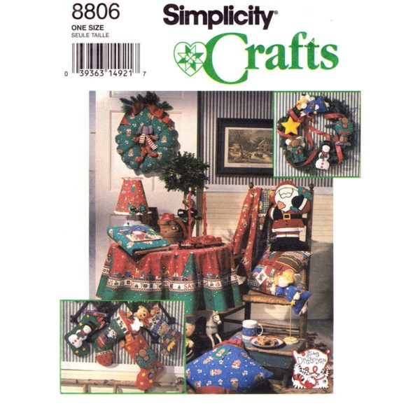 Simplicity 8806 holiday pattern