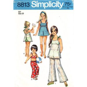 Simplicity 8813 girls sewing pattern