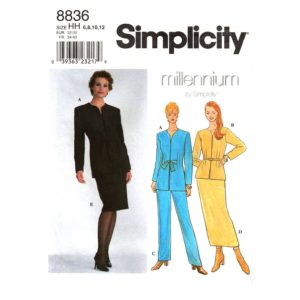 Simplicity 8836 womens suit pattern