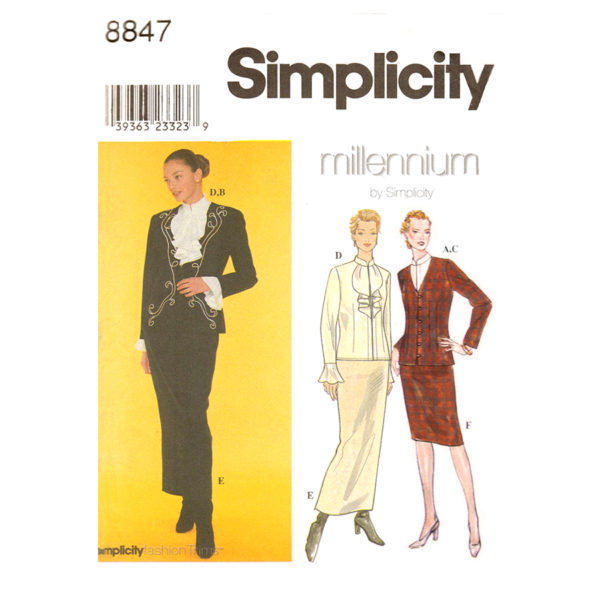 Simplicity 8847 sewing pattern