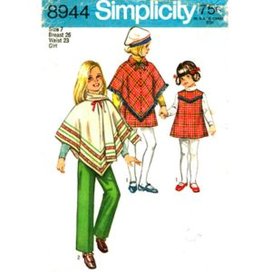 Simplicity 8944 girls sewing pattern