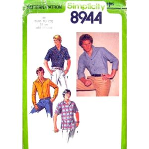 Simplicity 8944 mens shirt pattern