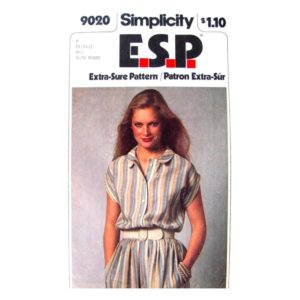 Simplicity 9020 shirt dress pattern