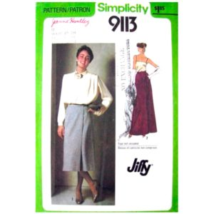 Simplicity 9113 wrap skirt pattern