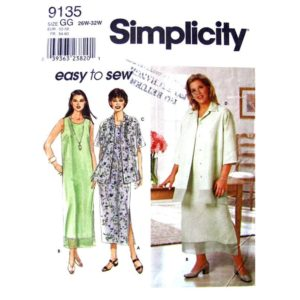 Simplicity 9135 dress and shirt pattern