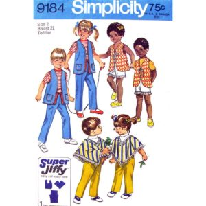 Simplicity 9184 toddler sewing pattern