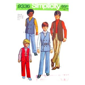 Simplicity 9336 boys sewing pattern