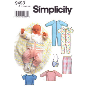 Simplicity 9493 baby pattern