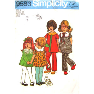 Simplicity 9583 girls pattern