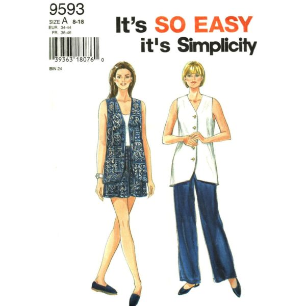 Simplicity 9593 womens sewing pattern