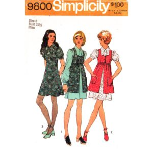 Simplicity 9800 dress and smock pattern
