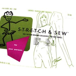 Stretch & Sew 700 slim pants sewing pattern
