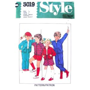Style 3019 child sewing pattern