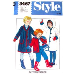 Style 3467 girls sewing pattern