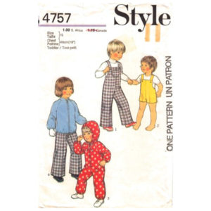 Style 4757 toddler pattern