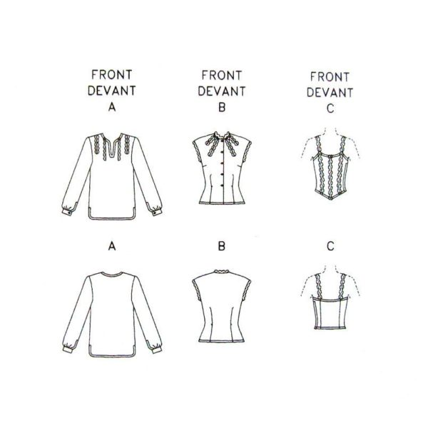 V7430 tops sewing pattern