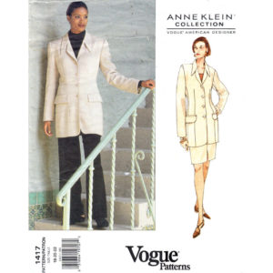 Vogue 1417 womens suit pattern