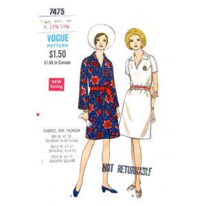 Vogue 7475 dress pattern