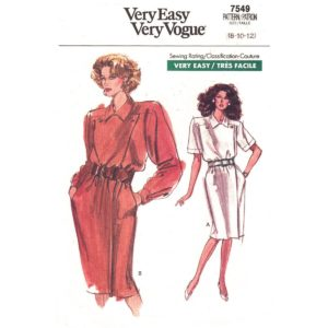 Vogue 7549 dress pattern