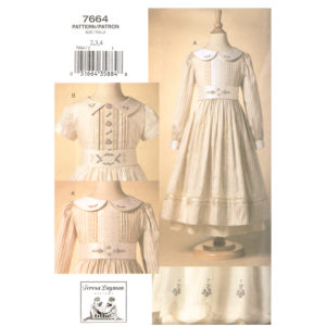 Vogue 7664 girls dress pattern