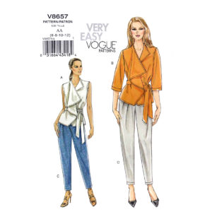 Vogue 8657 top and pants pattern