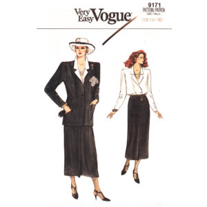 Vogue 9171 vintage suit pattern