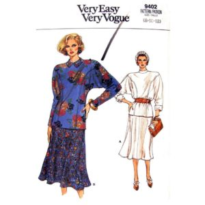 Vogue 9402 top and skirt pattern