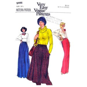 Vogue 9566 skirt and pants pattern