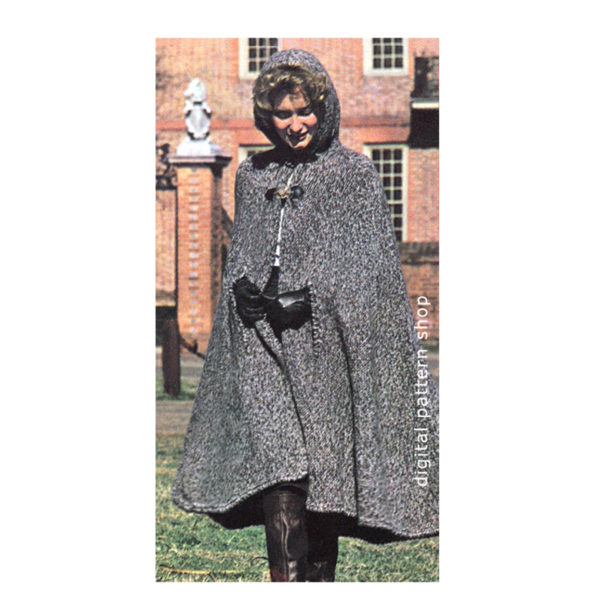 hooded cape knitting pattern