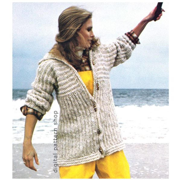 ribbed jacket crochet pattern