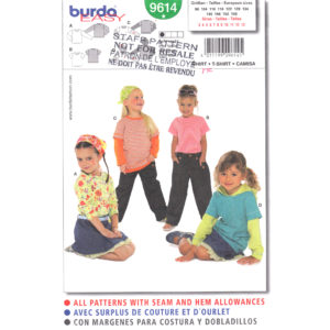 Burda 9614 girls top pattern