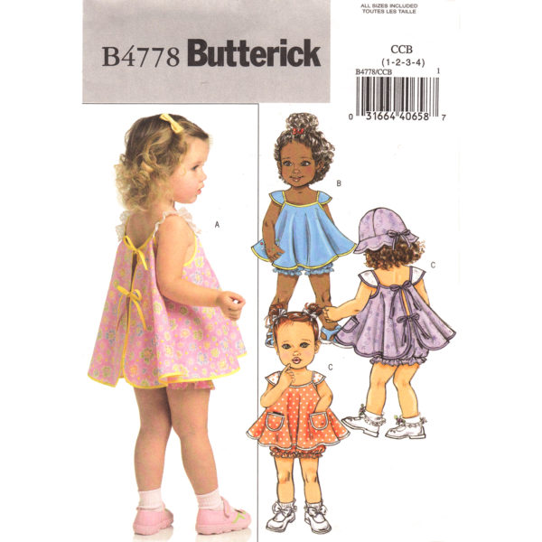 Butterick 4778 girls sewing pattern
