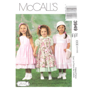 McCalls 3949 girls dress pattern