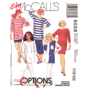 McCalls 6058 womens sewing pattern