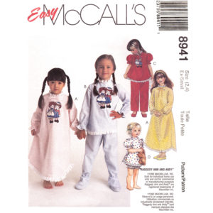 McCalls 8941 pajama pattern