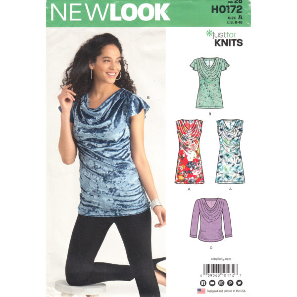 New Look 0172 6577 womens top pattern