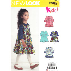 New Look 0182: 6591 girls dress pattern