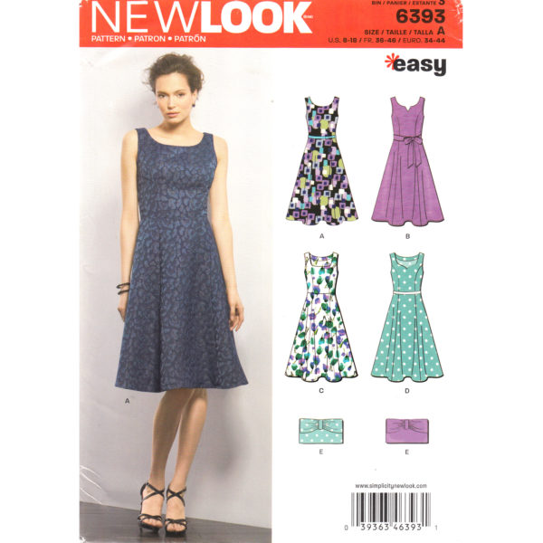 New Look 6393 womens dress pattern