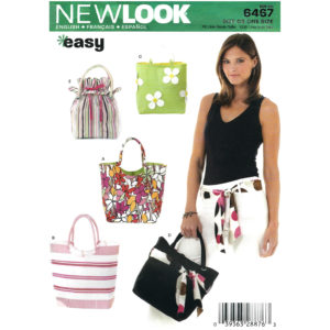 New Look 6467 bag sewing pattern