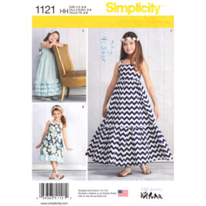 Simplicity 1121 girls dress pattern