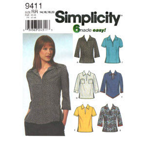 Simplicity 9411 womens top pattern