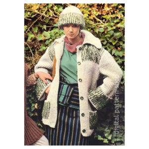 knit jacket and hat pattern K130