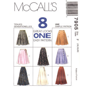 McCalls 7905 skirt sewing pattern