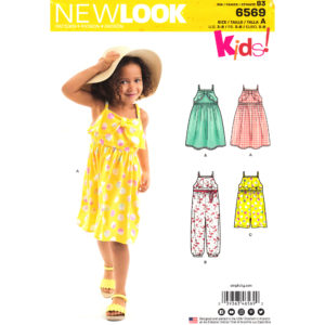 New Look 6569 girls sewing pattern