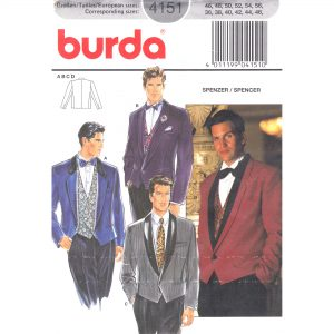 Burda 4151 mens jacket pattern