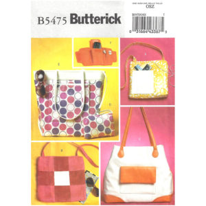 Butterick 5475 bag sewing pattern