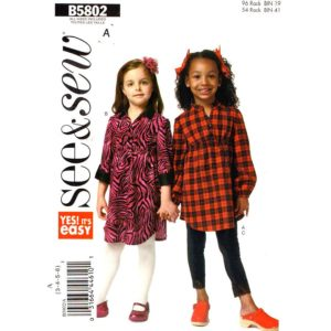Butterick 5802 girls sewing pattern