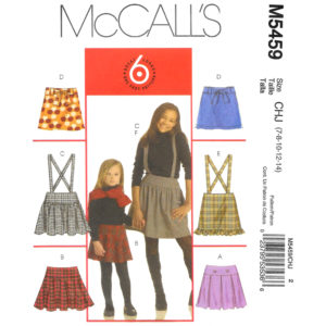McCalls 5459 girls skirt pattern