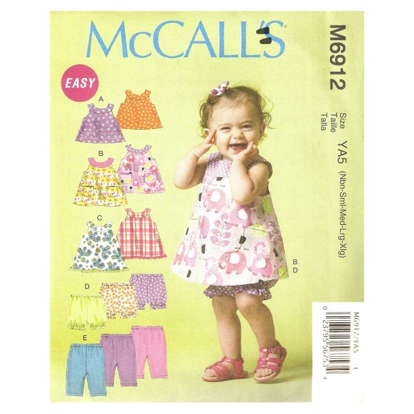 McCalls 6912 girls sewing pattern