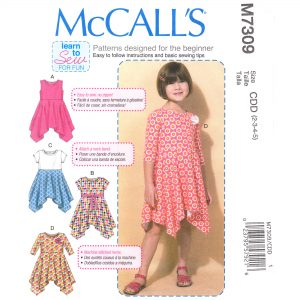 McCalls 7309 girls dress pattern